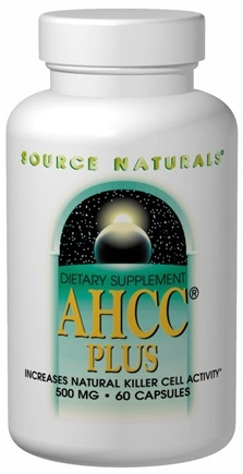 DROPPED: Source Naturals - AHCC Plus 500 mg. - 30 Capsules