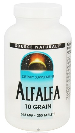 DROPPED: Source Naturals - Alfalfa 10 Grain 648 mg. - 250 Tablets CLEARANCE PRICED