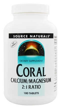 Source Naturals - Coral Calcium/Magnesium 2:1 Ratio - 180 Tablets
