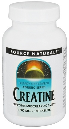 DROPPED: Source Naturals - Athletic Series Creatine Tablets 1000 mg. - 100 Tablets CLEARANCED PRICED