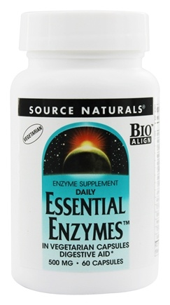 Source Naturals - Daily Essential Enzymes 500 mg. - 60 Vegetarian Capsules