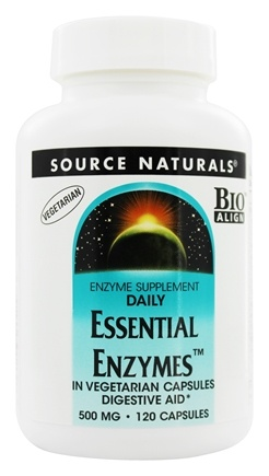 Source Naturals - Daily Essential Enzymes 500 mg. - 120 Vegetarian Capsules