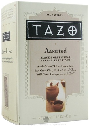 DROPPED: Tazo - All Natural Assorted Black & Green Teas & Herbal Infusions - 20 Tea Bags