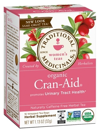 DROPPED: Traditional Medicinals - Cran-Aid Tea Promotes Urinary Tract Health - 16 Tea Bags