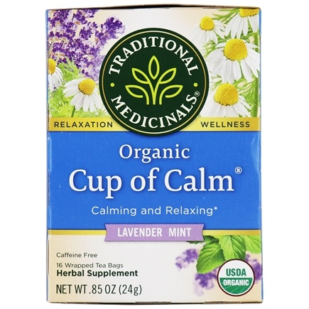 Traditional Medicinals - Cup of Calm - Calming and Relaxing - 16 Bags