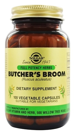 Solgar - Butcher's Broom - 100 Vegetarian Capsules