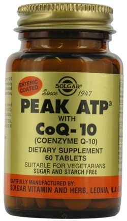 DROPPED: Solgar - PEAK ATP with CoQ-10 - 60 Tablets