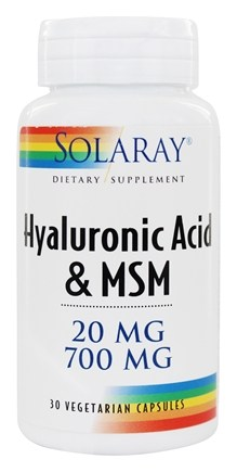 Solaray - Hyaluronic Acid & MSM - 30 Vegetarian Capsules