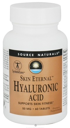 DROPPED: Source Naturals - Skin Eternal Hyaluronic Acid 50 mg. - 60 Tablets CLEARANCE PRICED