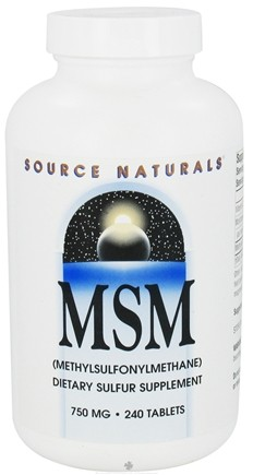 DROPPED: Source Naturals - MSM Methylsulfonylmethane 750 mg. - 240 Tablets CLEARANCE PRICED