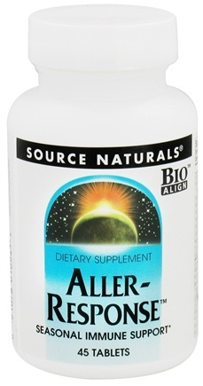 DROPPED: Source Naturals - Aller-Response - 45 Tablets CLEARANCE PRICED