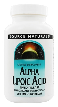 Source Naturals - Alpha Lipoic Acid Timed Release 300 mg. - 120 Tablets