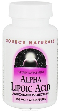 DROPPED: Source Naturals - Alpha-Lipoic Acid 100 mg. - 60 Capsules CLEARANCE PRICED