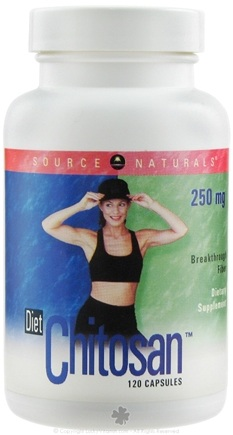 DROPPED: Source Naturals - Diet Chitosan 250 mg. - 120 Capsules