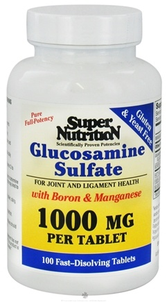 DROPPED: Super Nutrition - Glucosamine Sulfate with Boron & Manganese 1000 mg. - 100 Tablets CLEARANCE PRICED