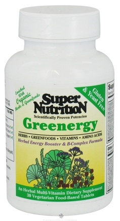 DROPPED: Super Nutrition - Greenergy - 30 Vegetarian Tablets CLEARANCE PRICED