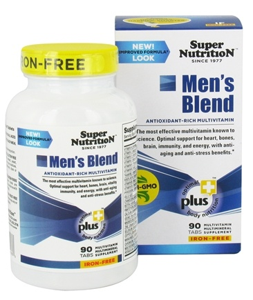 DROPPED: Super Nutrition - Men's Blend Iron Free - 90 Vegetarian Tablets CLEARANCE PRICED