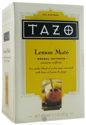 DROPPED: Tazo - All Natural Herbal Infusion Lemon Mate - 20 Tea Bags