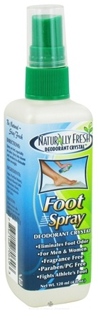 DROPPED: Naturally Fresh - Deodorant Crystal Foot Spray - 4 oz. CLEARANCE PRICED