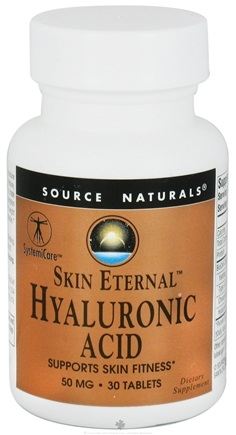 DROPPED: Source Naturals - Skin Eternal Hyaluronic Acid 50 mg. - 30 Tablets CLEARANCE PRICED