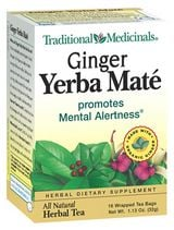 DROPPED: Traditional Medicinals - Ginger Yerba Mate Tea - Promotes Mental Alertness - 16 Tea Bags