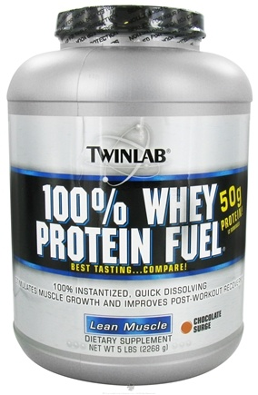 DROPPED: Twinlab - 100% Whey Protein Fuel Chocolate Surge - 5 lbs.