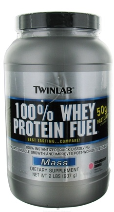 DROPPED: Twinlab - 100% Whey Protein Fuel Strawberry Smash - 2 lbs.