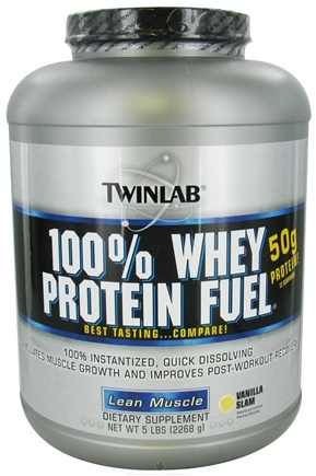 DROPPED: Twinlab - 100% Whey Protein Fuel Vanilla Slam - 5 lbs.