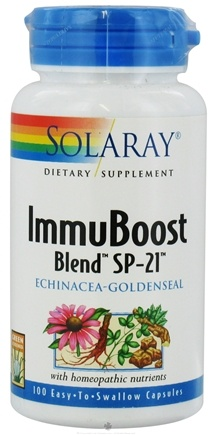 DROPPED: Solaray - ImmuBoost Blend SP-21 Echinacea Goldenseal - 100 Capsules CLEARANCE PRICED