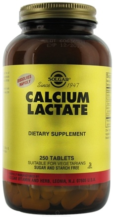 DROPPED: Solgar - Calcium Lactate - 250 Tablets