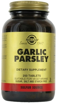 DROPPED: Solgar - Garlic Parsley - 250 Tablets