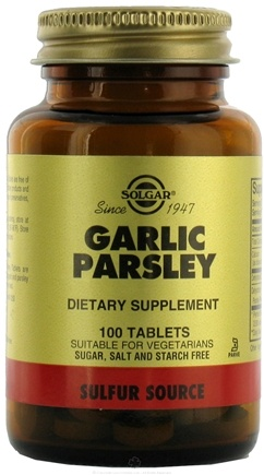 DROPPED: Solgar - Garlic Parsley - 100 Tablets