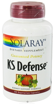DROPPED: Solaray - Guaranteed Potency KS Defense Kidney Support Formula - 90 Vegetarian Capsules