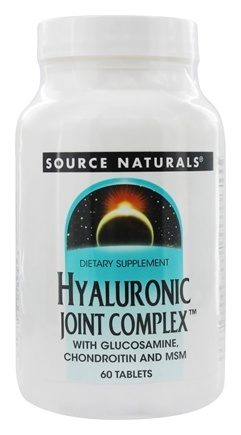 Source Naturals - Hyaluronic Joint Complex With Glucosamine, Chondroitin, and MSM - 60 Tablets