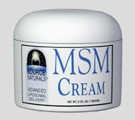 DROPPED: Source Naturals - MSM Cream - 2 oz.