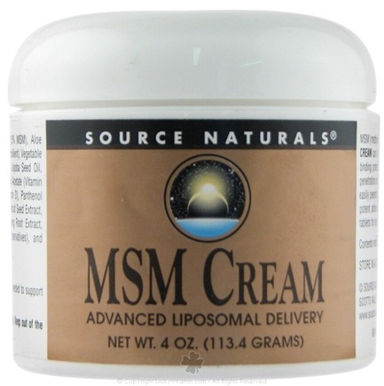 DROPPED: Source Naturals - MSM Cream - 4 oz.