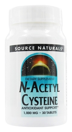 Source Naturals -  N-Acetyl Cysteine 1000 mg. - 30 Tablets (Formerly Nac)