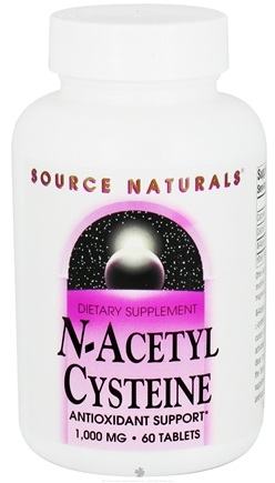DROPPED: Source Naturals - N-Acetyl Cysteine 1000 mg. - 60 Tablets CLEARANCE PRICED