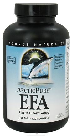 DROPPED: Source Naturals - ArcticPure EFA Essential Fatty Acids Lemon Flavor 325 mg. - 120 Softgels CLEARANCED PRICED