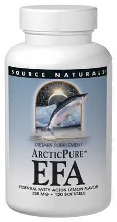 DROPPED: Source Naturals - ArcticPure Pro EFA Lemon Flavor 325 mg. - 60 Softgels
