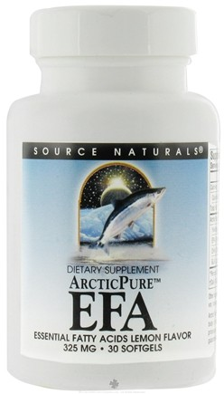 DROPPED: Source Naturals - ArcticPure Pro EFA(C) Lemon Flavor 325 mg. - 30 Softgels