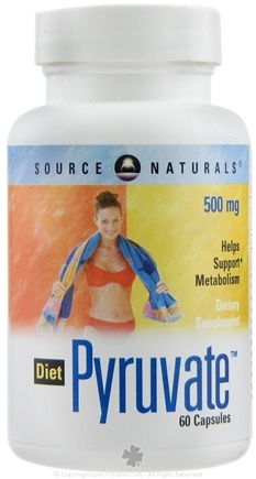 DROPPED: Source Naturals - Diet Pyruvate 500 mg. - 60 Capsules