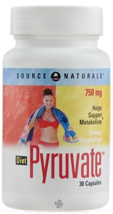 DROPPED: Source Naturals - Diet Pyruvate Clearance Priced 750 mg. - 30 Tablets