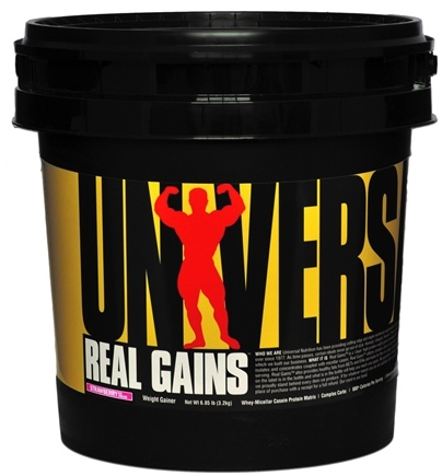 DROPPED: Universal Nutrition - Real Gains Weight Gainer Strawberry Ice Cream - 6.85 lbs. CLEARANCE PRICED