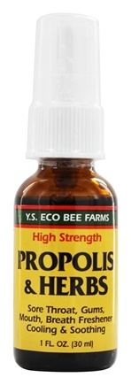 YS Organic Bee Farms - Propolis Herb Throat Spray - 1 oz.