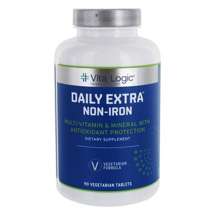 DROPPED: Vita Logic - Daily Extra Iron Free Complete Multi-Vitamin & Mineral Formula Once Daily - 90 Tablets