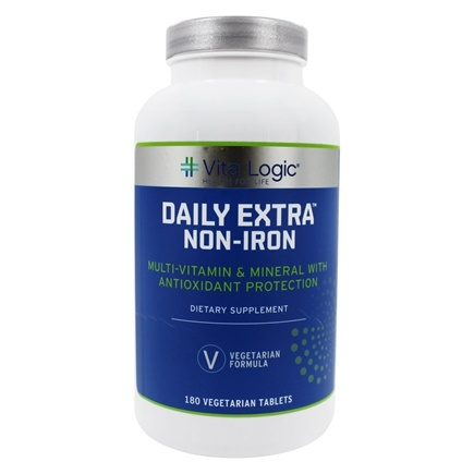DROPPED: Vita Logic - Daily Extra Iron Free Complete Multi-Vitamin & Mineral Formula Once Daily - 180 Tablets