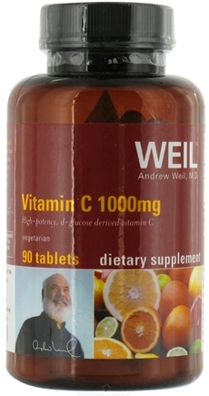 DROPPED: Weil Nutritional Supplements - Vitamin C 1000 mg. - 90 Vegetarian Tablets