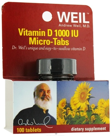 DROPPED: Weil Nutritional Supplements - Vitamin D Micro-Tabs 1000 IU - 100 Tablets CLEARANCE PRICED