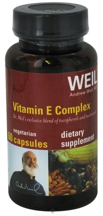 DROPPED: Weil Nutritional Supplements - Vitamin E Complex - 60 Vegetarian Capsules